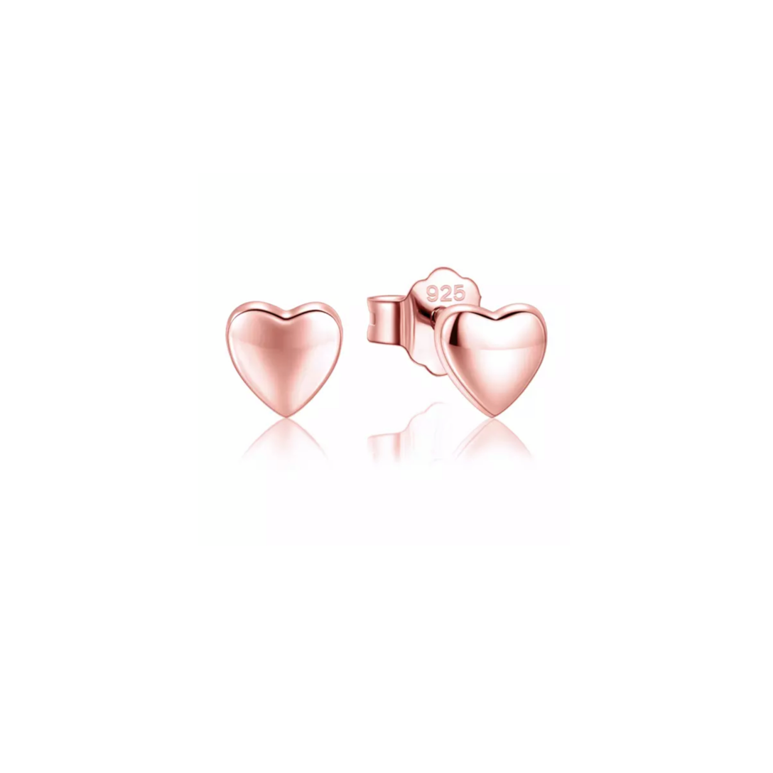 Harmony Heart Rose Gold Earrings