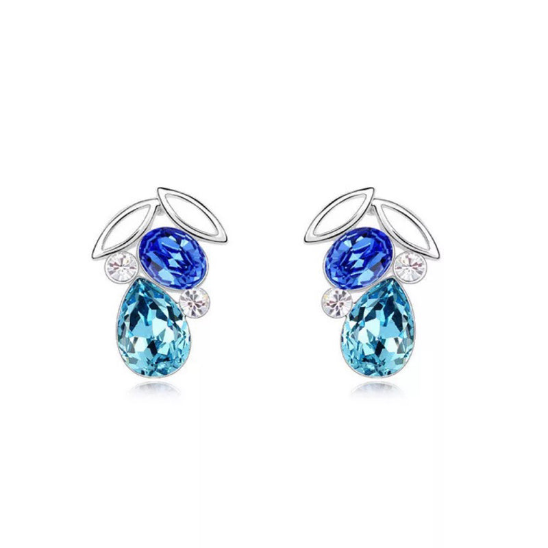 Odila Blue Crystal Earrings