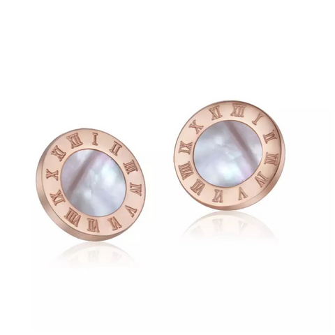 Vogue Rose Gold Shell Earrings