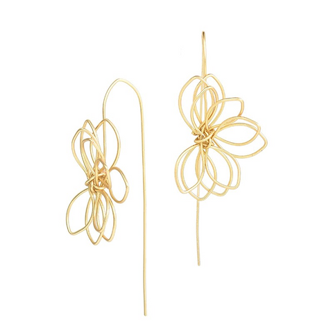 Duchess Fleur Gold Earrings