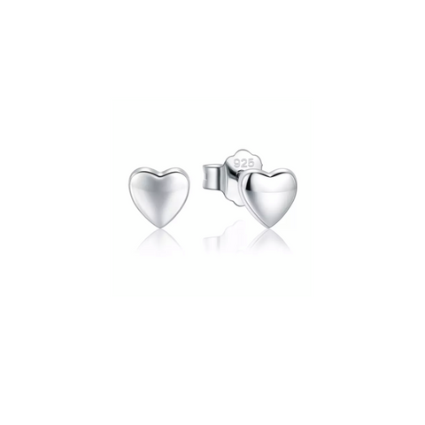 Harmony Heart Silver Earrings