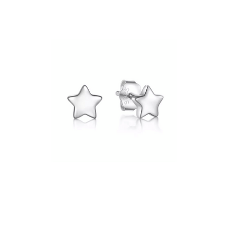 Super Star Silver Earrings