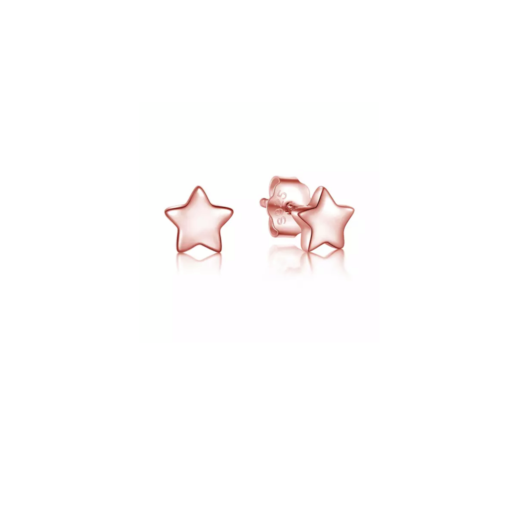Super Star Rose Gold Earrings