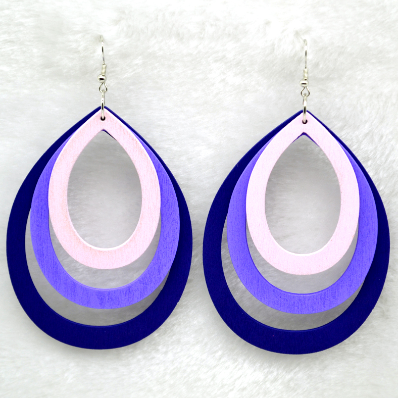 Tosia Purple Earrings