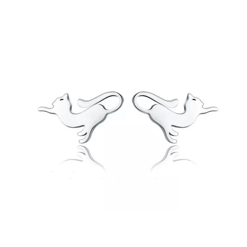 Carressa Cats Sterling Silver Earrings