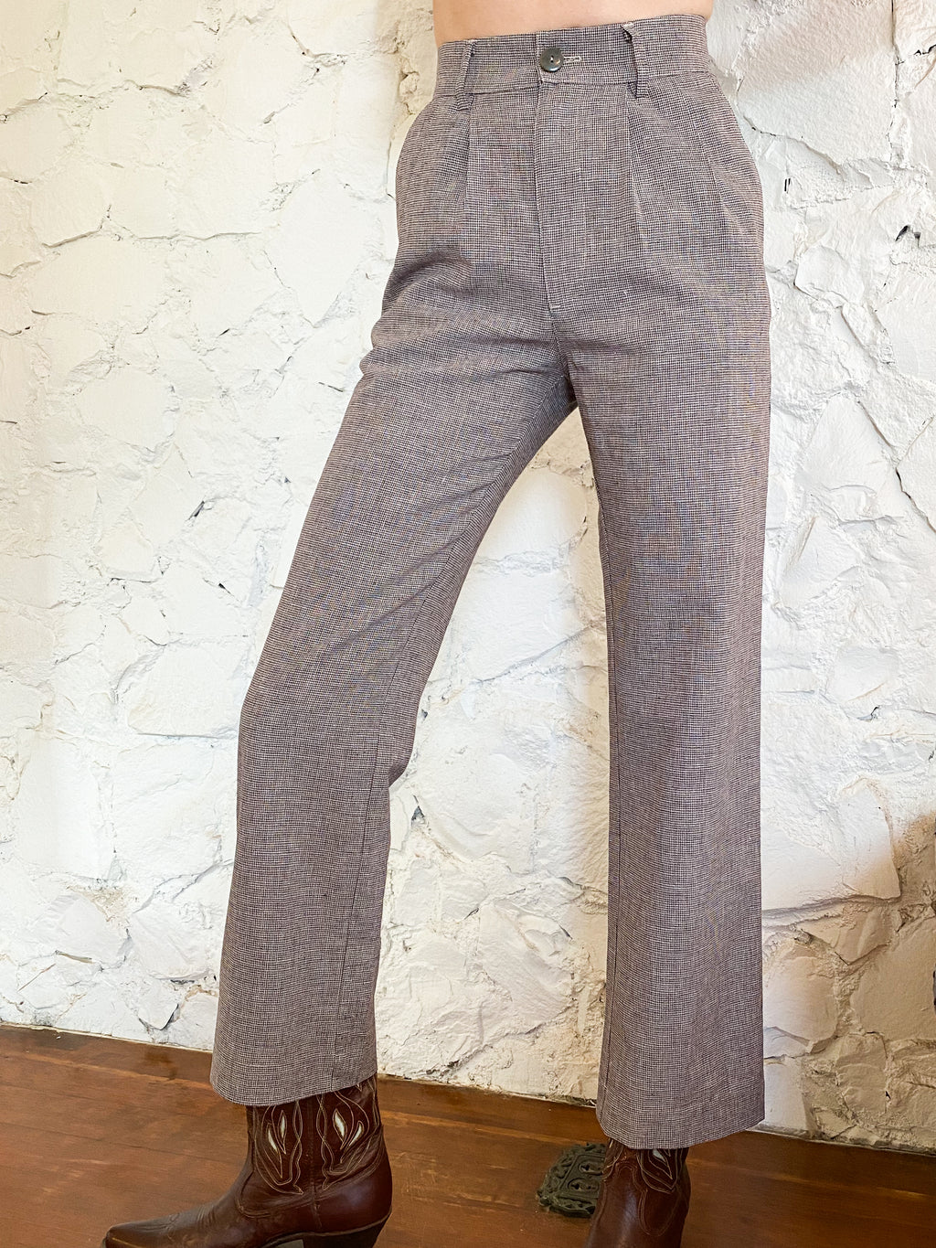 The Pants- Houndstooth Linen