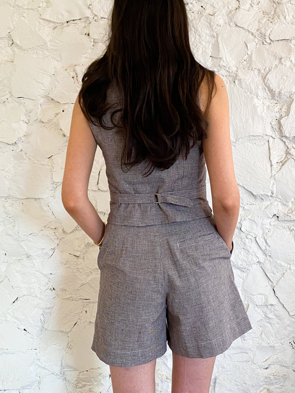 The Shorts - Houndstooth Linen