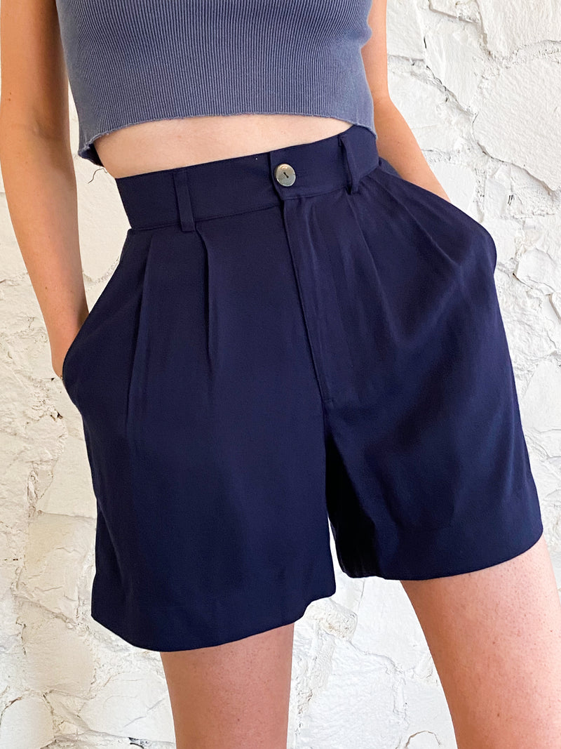 The Shorts - Navy Tencel