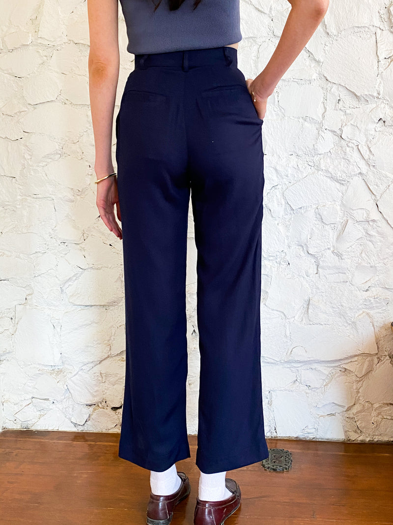 The Pants - Navy Tencel
