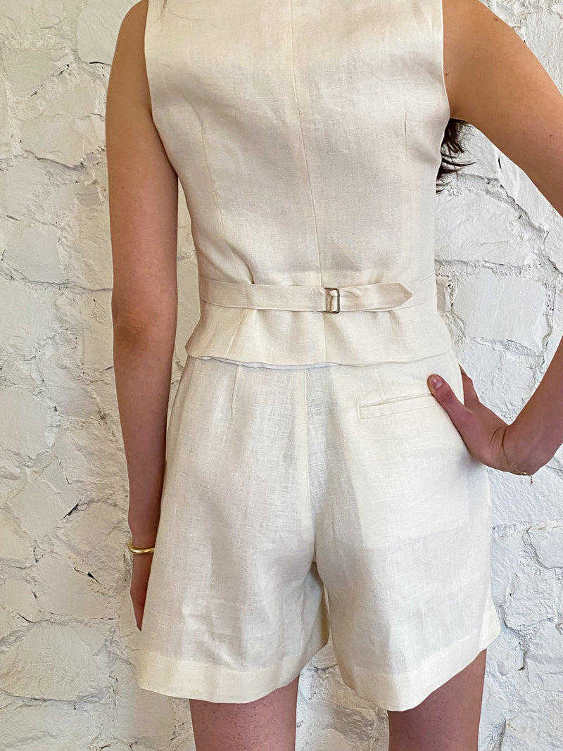 The Shorts - Ivory Linen