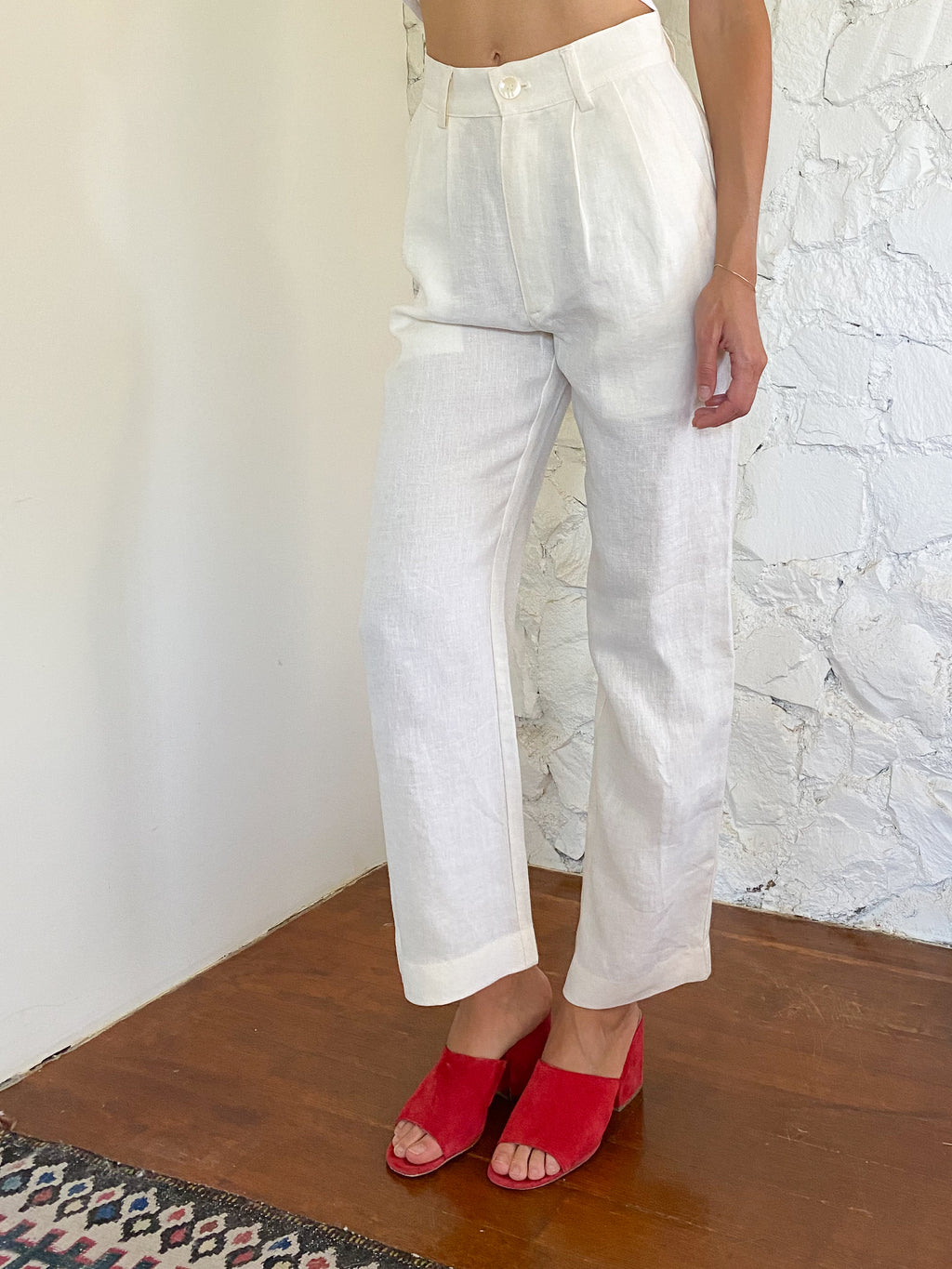 The Pants - Cream Linen
