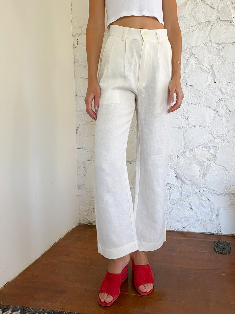 The Pants - Ivory Linen