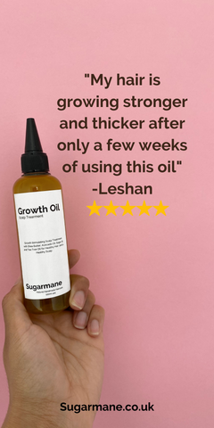 """""""My hair is growing stronger and thicker after only a few weeks of using this oil"""" -Leshan"""