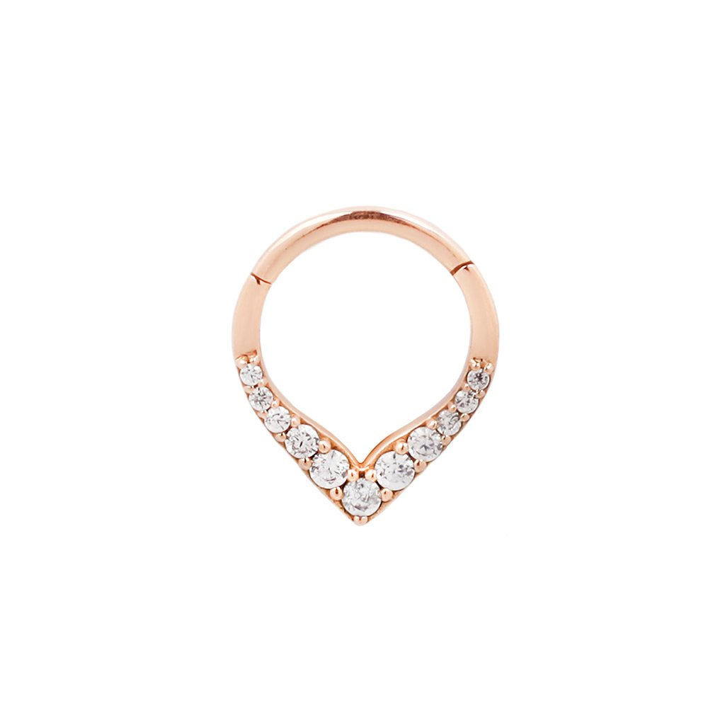 Rise + Shine - Solid 14K Rose Gold Clicker