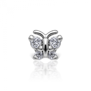 Maria Tash  Diamond Butterfly Threaded Stud