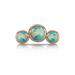 Maria Tash Three Opal Curve Threaded Stud
