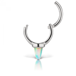Maria Tash 6.5mm Single Short Opal Spike Clicker