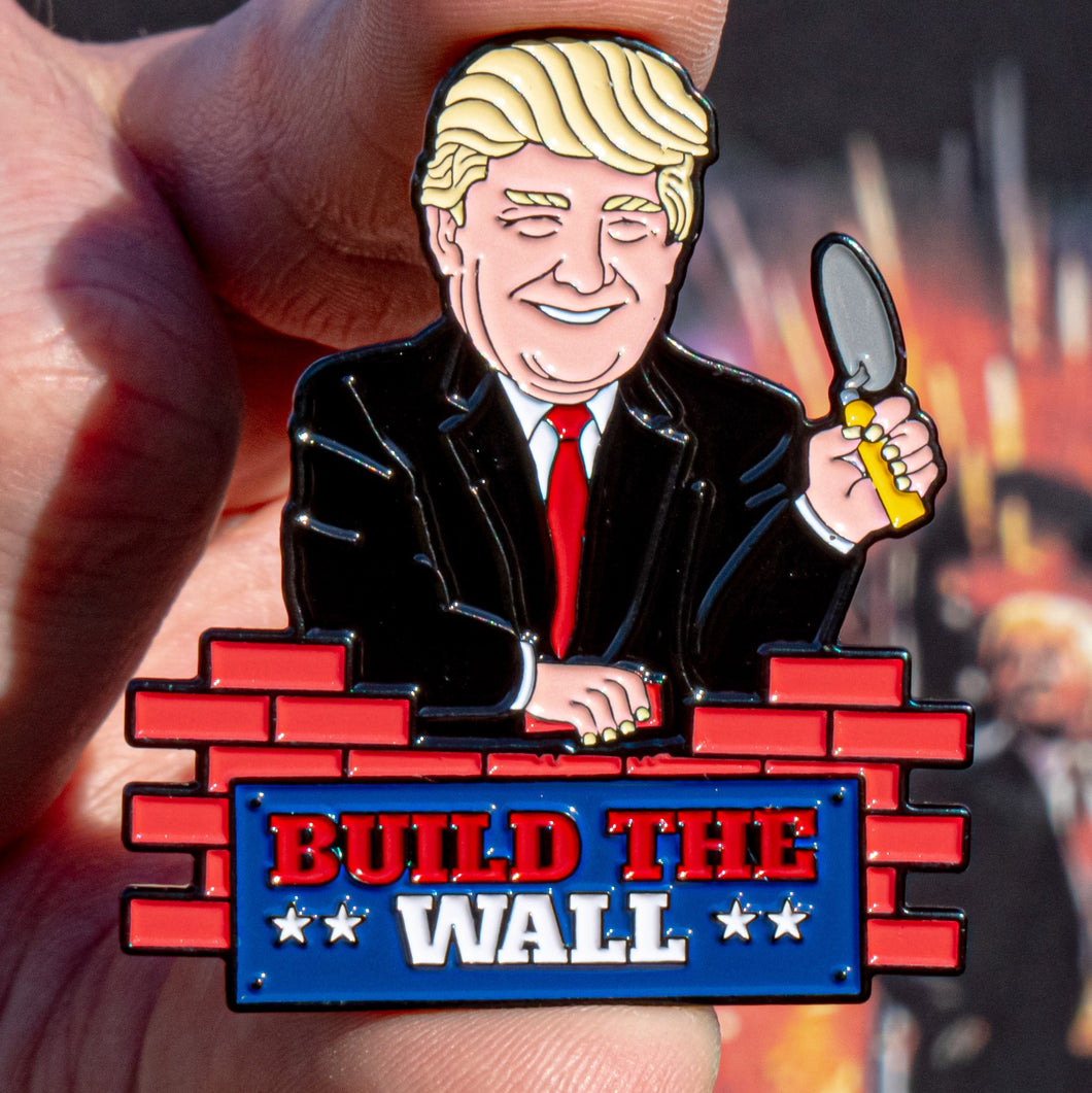 Build The Wall Trump Pin