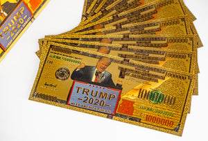 Trump 2020 Gold Dollar Bill