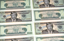 Load image into Gallery viewer, Trump 2020 Dollar Bill