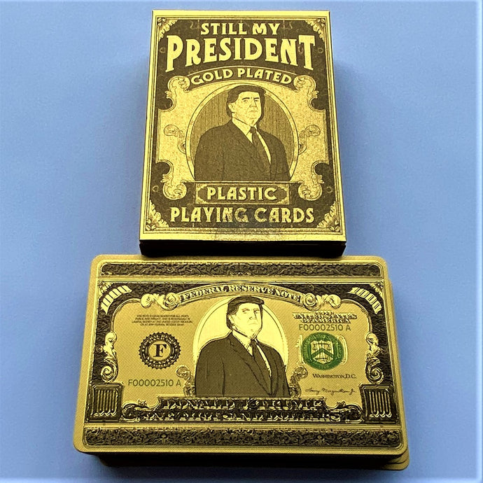 24k Gold Plated Trump Playing Cards (Limited Edition)