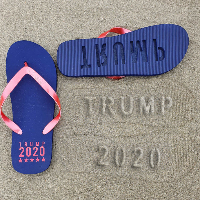 Trump 2020 Beach Imprint Flip Flops