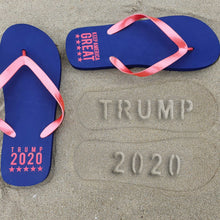 Load image into Gallery viewer, Trump 2020 Beach Imprint Flip Flops