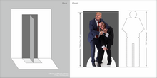 Load image into Gallery viewer, Trump Defeats Biden Life Size Cardboard Cutout