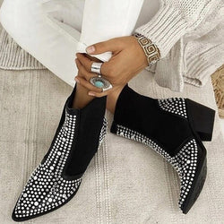 2020 High Quality Women Fashion Studded Embellished Chelsea Boots