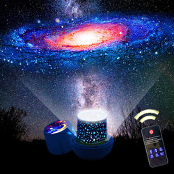 Bluetooth LED Starry Night Sky Projector Lamp Star Light Cosmos Master Kids Gift