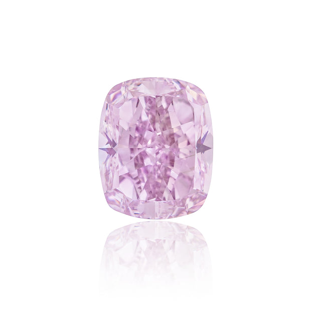 Bubble Gum love (Cushion shape Fancy Pink-Purple 1.55 Carat)
