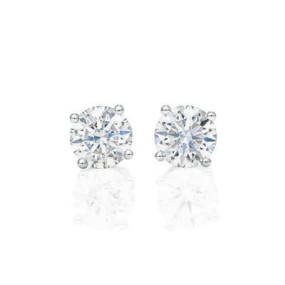 Eternal 4 Prongs Diamond Earrings