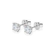 """BIG"" Eternal 4 Prongs Diamond Earrings"