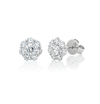 """Flower"" Diamond Stud Earrings"