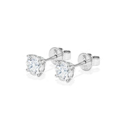 Eternal 4 Prongs Diamond Earrings with Diamond Jacket