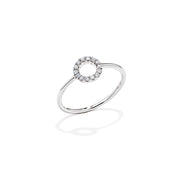 Round Brilliant Diamond Ring - Mini