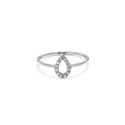 Pear Shape Diamond Ring - Mini
