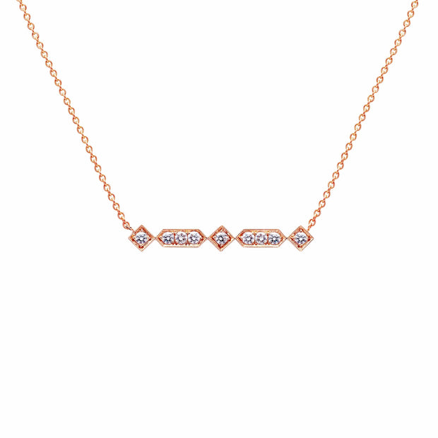 Vintage Diamond Bar Necklace