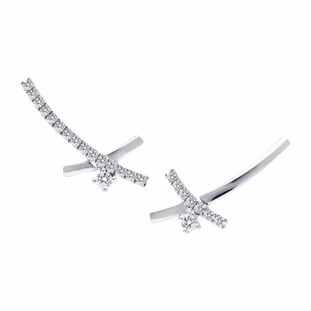 XCross Diamond Ear-climbers