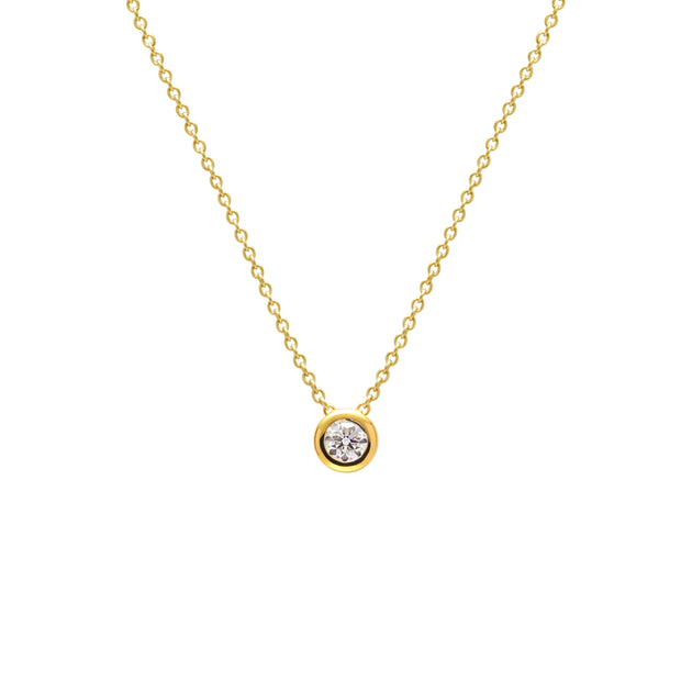 Rolling Diamond Necklace