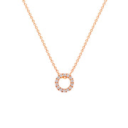 Brilliant Round Diamond Necklace