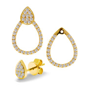 Pear Shape Diamond Earrings