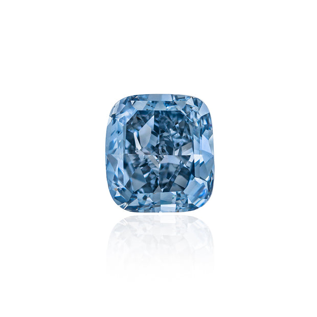 Cushion Cut Diamond Fancy Vivid Blue