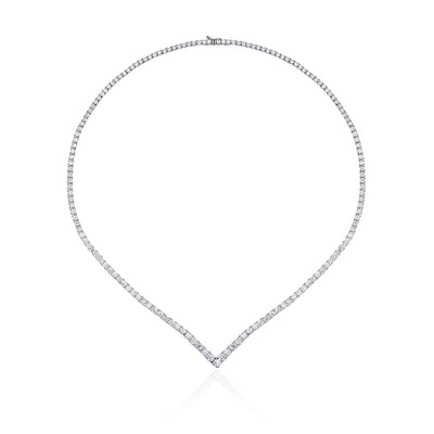 V Shape Eternal Diamond Necklace
