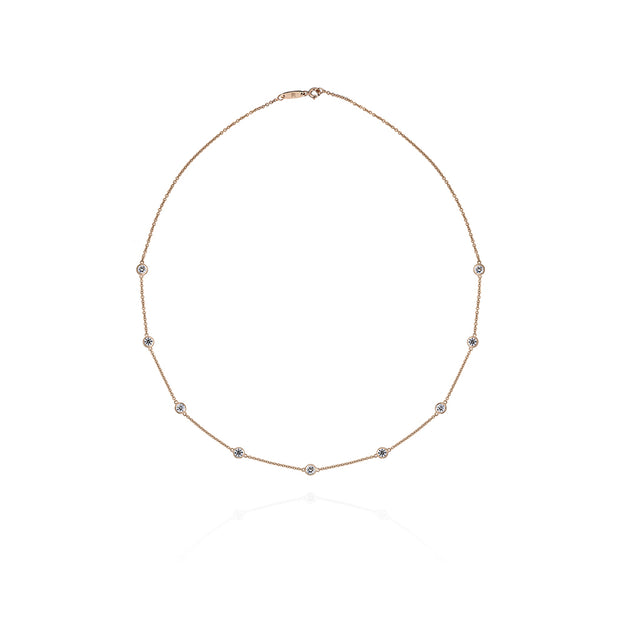 Bezel-Set Diamond Choker (1.36 carat)