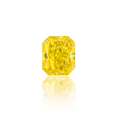 Radiant Cut Fancy Intense Yellow Diamond (1.84 Carat)