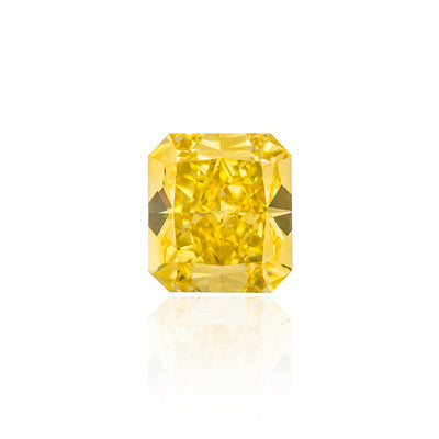 Radiant Cut Fancy Intense Yellow Diamond (4.30 Carat)