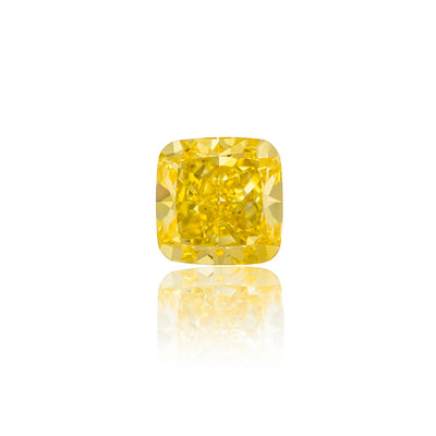 Cushion Cut Fancy Intense Yellow Diamond (2.35 Carat)