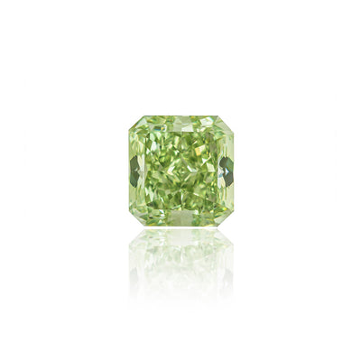 Radiant Cut Fancy Intense Yellowish-Green Diamond (2.13 Carat)
