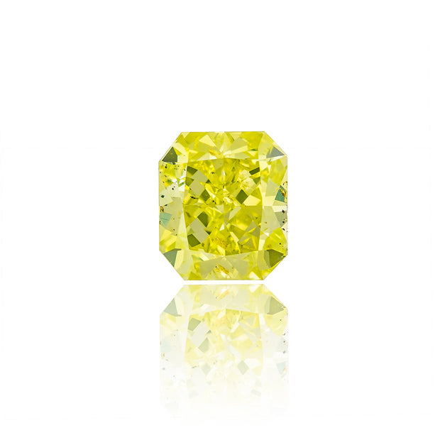 Radiant Cut Fancy Intense Yellow-Green Diamond